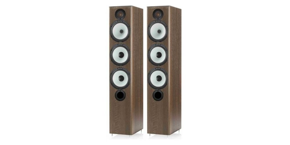 monitor audio mr6 walnut altavoces