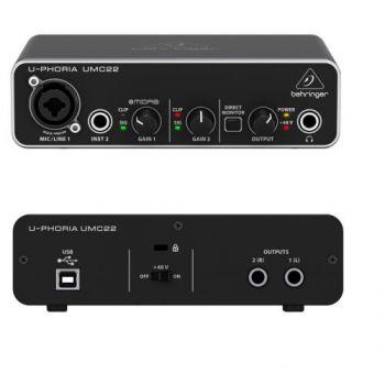 BEHRINGER U-PHORIA UMC-22 Interface de Audio/Midi USB, UMC22
