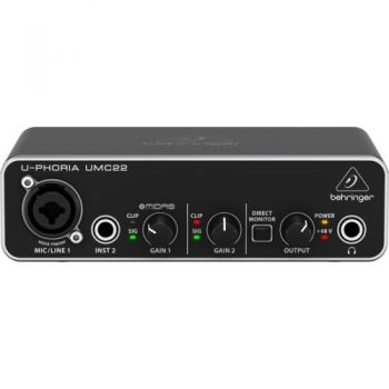 BEHRINGER U-PHORIA UMC-22 Interface de Audio USB, UMC22