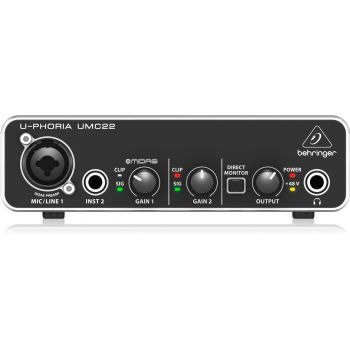 BEHRINGER UMC-22  U-PHORIA  Interface de Audio USB