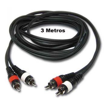Cable 2 RCA a 2 RCA Stereo, 3 metros, RCA-RCA3M-MH RF:27