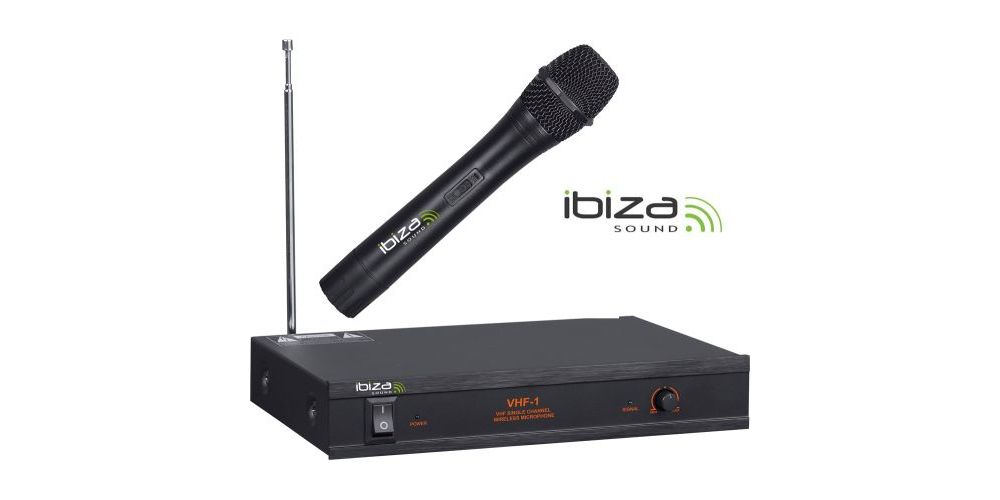 MICROFONO INALAMBRICO IBIZA SOUND VHF1 A