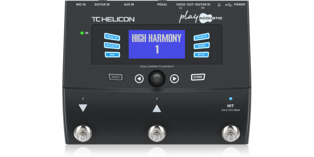 tc helicon PLAY ACOUSTIC pedales