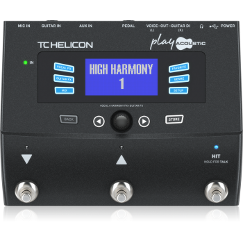TC Helicon Play Acoustic. Procesador vocal para Guitarras Electro Acústicas