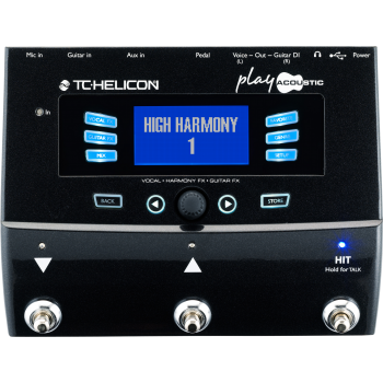 TC Helicon Play Acoustic Procesador vocal, Pedal de Efectos -