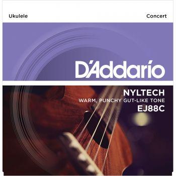 D Addario EJ-88 C Concert Nyl Cuerda Ukelele