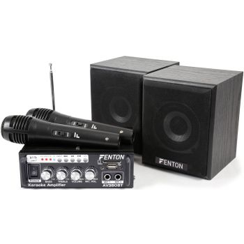 Fenton AV380BT Kit de Amplificador con bafles USB/SD/BT 103145