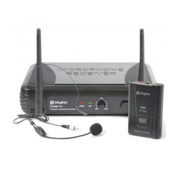 Vonyx STWM711H Sistema inalambrico VHF con micro de cabeza 179187 By-Skytec