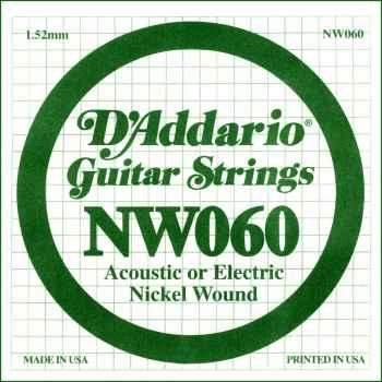 D´addario NW060 Cuerda Suelta para Guitarra Eléctrica