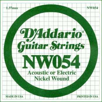 D´addario NW054 Cuerda Suelta para Guitarra Eléctrica