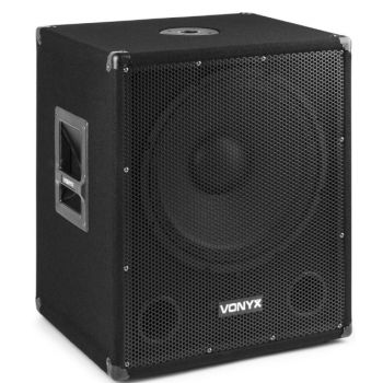 Vonyx SMW-BA15 MP3 Subwoofer Bi-Amplificado 15 pulgadas / 600W y Bluetooth 170812