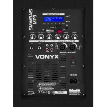 Vonyx SMW-BA15 MP3 Subwoofer Bi-Amplificado 15 pulgadas / 600W y Bluetooth 170812