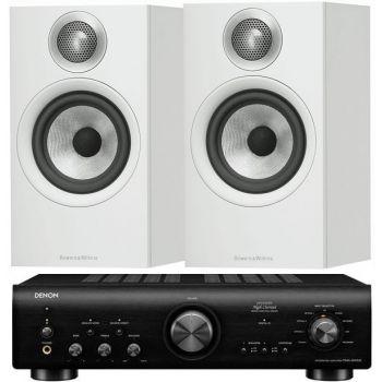 Denon PMA-800AE Black+BW 606 White Conjunto Audio