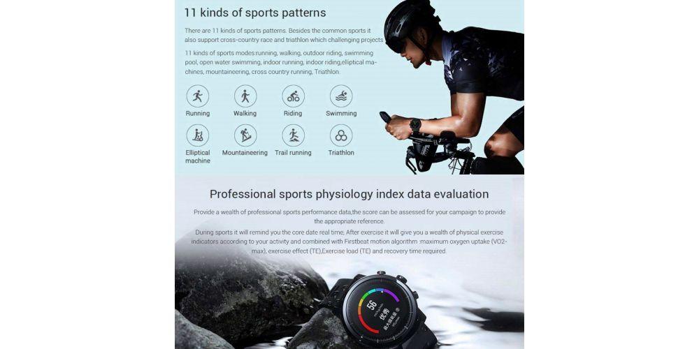 xiaomi Amazfit Stratos reloz inteligente gps funciones deportes
