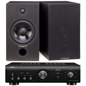 Denon PMA-600 NE Black+Cambridge Audio SX60 BK Conjunto audio