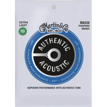 Martin MA530 Cuerdas Guitarra Acústica Authentic Sp Phosphor Bronze 92/8 Extra Light 10-47
