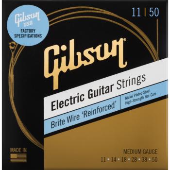 Gibson Brite Wire Reinforced Electric Guitar Strings Medium Cuerdas Guitarra Eléctrica