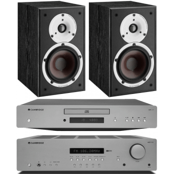 Cambridge Audio AXR100+AXC25+Spektor2 BK Conjunto Audio