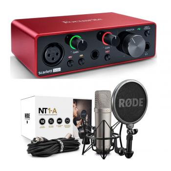 Focusrite Scarlett Solo 3rd Gen Interface Audio + Rode NT1A Bundle