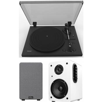 Equipo HiFi TEAC TN-175 Black Giradiscos Con Previo Phono +Wiibo Neo 100 WhiteAltavoces Activos Bluetooth