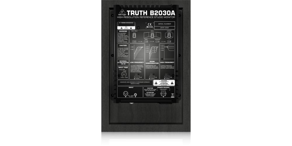 behringer B2030A monitor conexiones