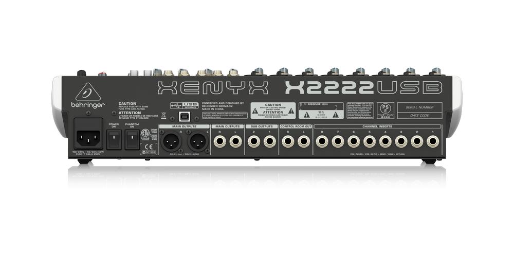 behringer x2222usb xenyx conexiones