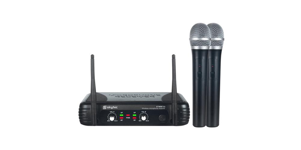 SKYTEC STWM722 Microfono Inalambrico doble de Mano UHF 179170