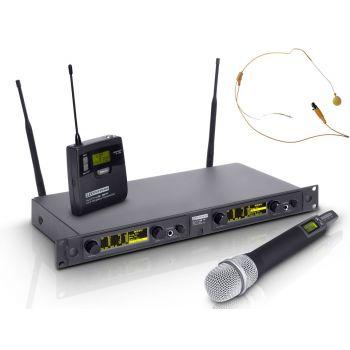 LD SYSTEMS WIN 42 HBHH 2 Microfono Doble de Mano y Diadema Carne