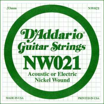 D´addario NW021 Cuerda Suelta para Guitarra Eléctrica