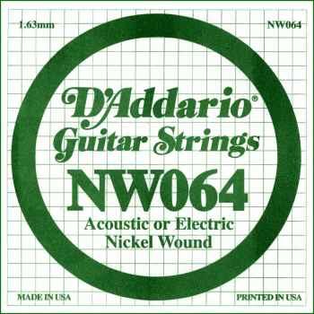 D´addario NW064 Cuerda Suelta para Guitarra Eléctrica
