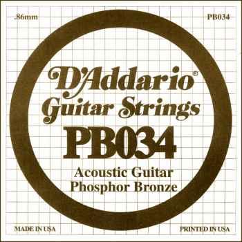 D´addario PB034 Cuerda Suelta para Guitarra Acústica