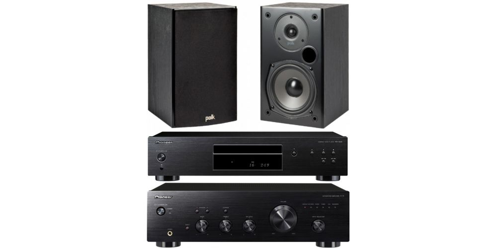 pioneer a10k pd10ae polk audio T15