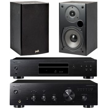 Pioneer A-10AEK+ PD10AE-K Polk Audio T15B Conjunto Audio