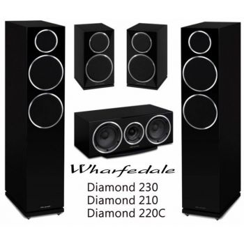 WHARFEDALE Diamond 230BK System 5.0, Diamond 2230BK+Diamond 210BK+Diamond 220C Bk