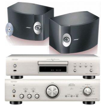 Denon PMA-800AE Silver+DCD800 Silver+BOSE 301, Conjunto Sonido