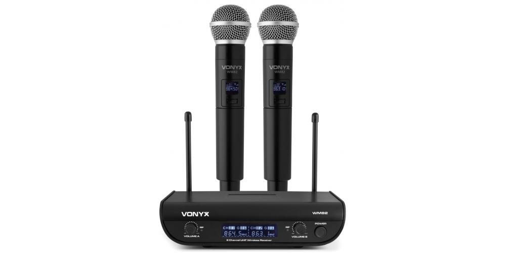 vonyx wm82 microfono inalambrico