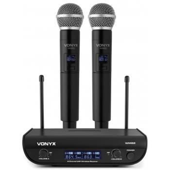 Vonyx WM82 Microfono Inalambrico Digital UHF 2 Canales 179212