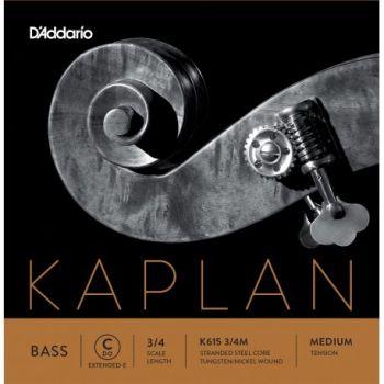 D´addario K615 Cuerda Suelta Contrabajo Kaplan Do (C) 3/4 Tensión Media