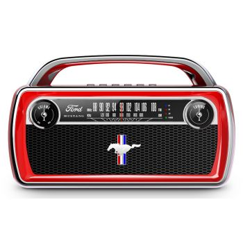 ION Audio Mustang Stereo Radio Altavoz Bluetooth Vintage