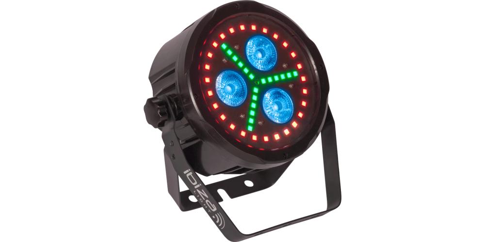 Ibiza Light PAR LED 318 FX1 Par Led de Animacion Con DMX