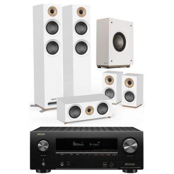 Denon Equipo AV AVR-X2600 +Jamo s807 HCS White+S810 Conjunto Home Cinema