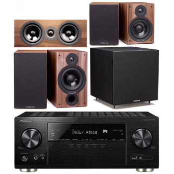 Pioneer VSX933+Cambridge SX60 Walnut  Cinema Pack 5.1 Conjunto Home cinema