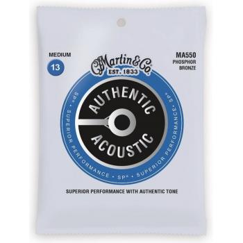 Martin MA550 Cuerdas Guitarra Acústica Authentic Sp Phosphor Bronze 92/8 Medium 13-56