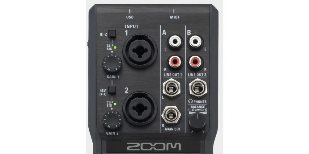 ZOOM U-24 Interface de Audio USB