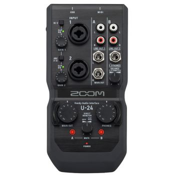 Zoom U-24 Interface de Audio USB Multicanal para PC y Mac