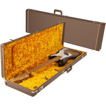 Fender G&G Deluxe Precision Bass® Hardshell Estuche Marron y Dorado
