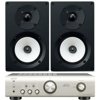 DENON PMA-520 Si+Onkyo D055  Conjunto audio