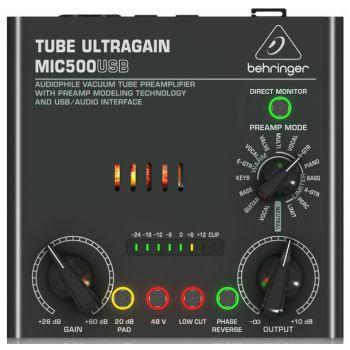 BEHRINGER MIC500USB Previo Micrófono e Interfaz USB Audio