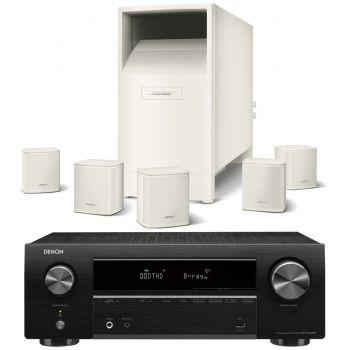 DENON AVR-X550 BK+BOSE AM6 V White Conjunto Home cinema