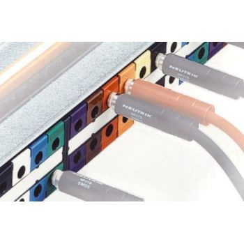 Neutrik NPP-LB1 Etiqueta de Identificación para Patch Panel color Marrón